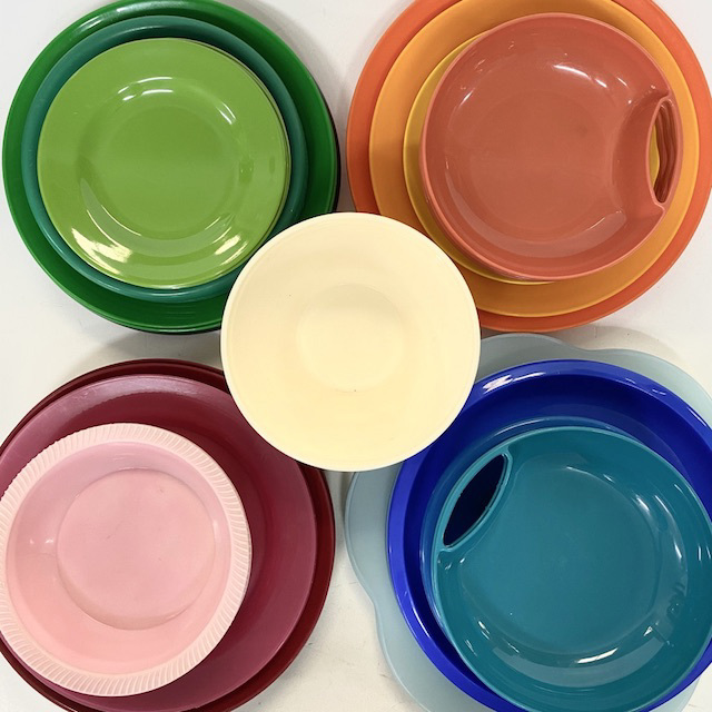 PIC0009 PICNICWARE, Plastic Plate Bowl - Coloured $1.25