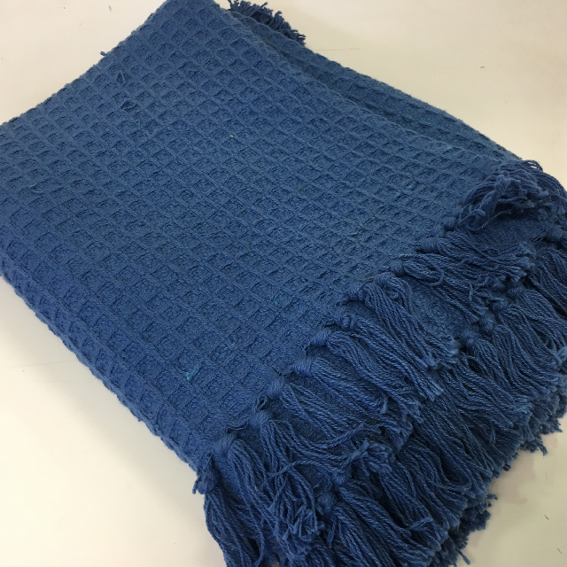 BLA0125 BLANKET, Picnic - Blue Cotton $10