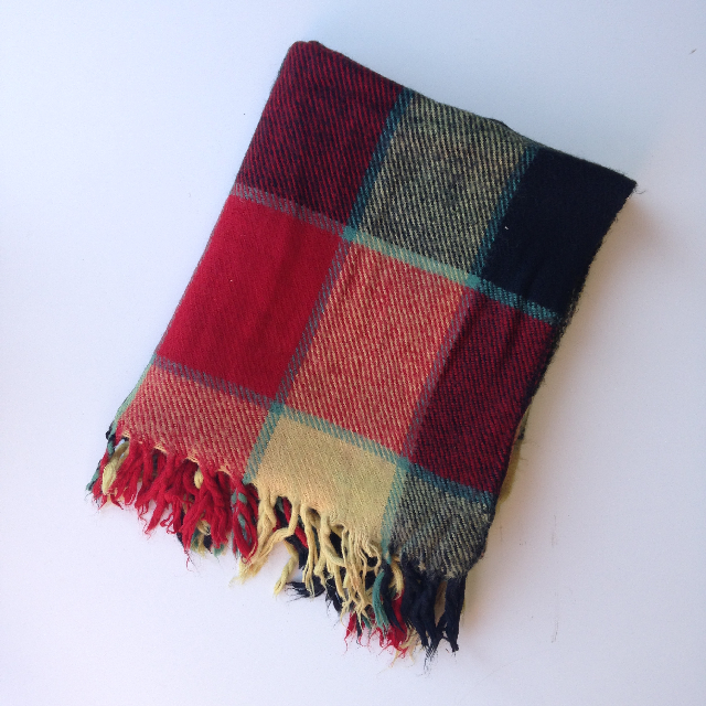 BLA0132 BLANKET, Picnic - Red Yellow Check Wool  $10