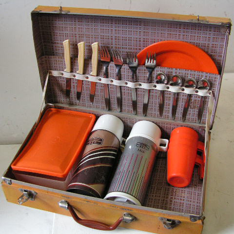 CAS0103 CASE, Picnic - 1960's Mustard pictured w Orange Set