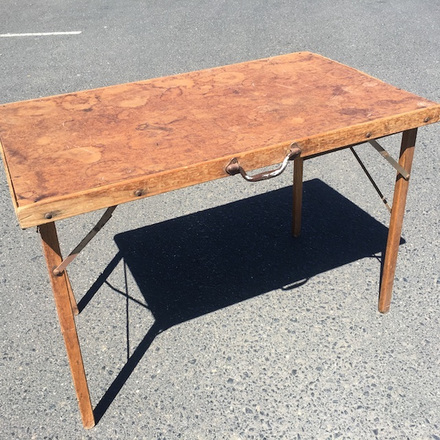 TAB0060 TABLE, Folding Table - Wooden 50cm x 100cm $22.50