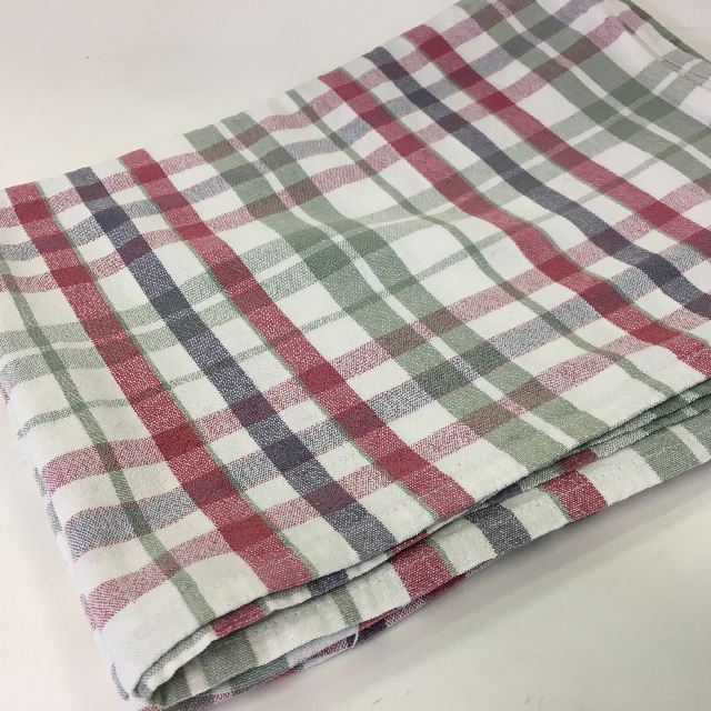 TAB0133 TABLECLOTH, Red Green & Blue Tartan $7.50