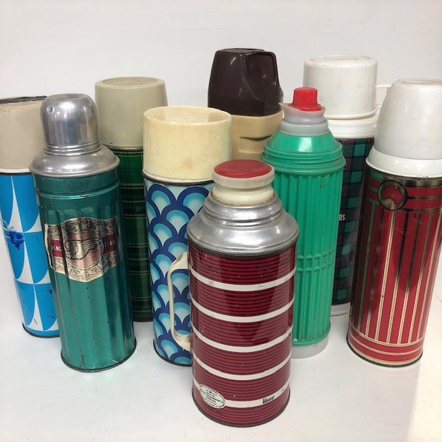 THE0006 THERMOS, Retro Assorted - Large $6.25