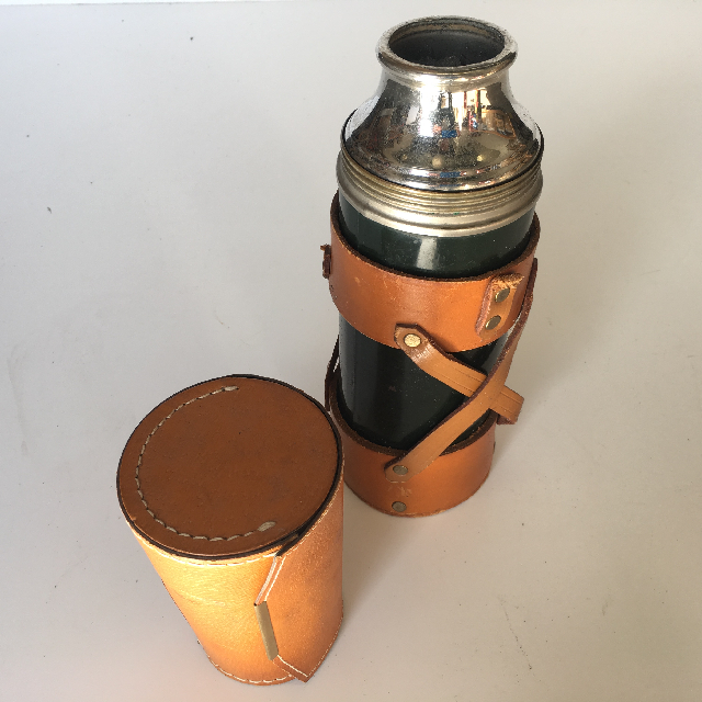 THE0011 THERMOS, Case - Vintage Leather w Cup Holder $5
