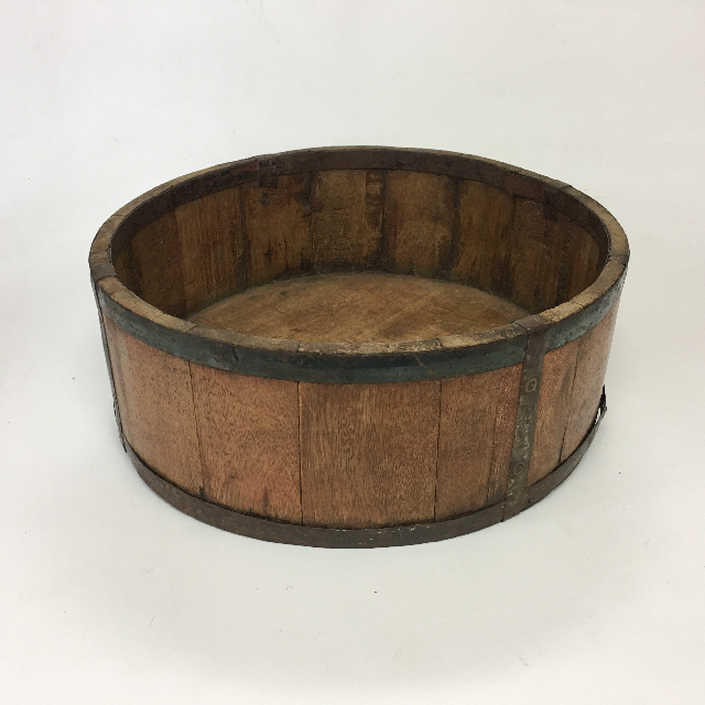 BUC0038 BUCKET, Small Shallow Wooden 28cm D $12.50