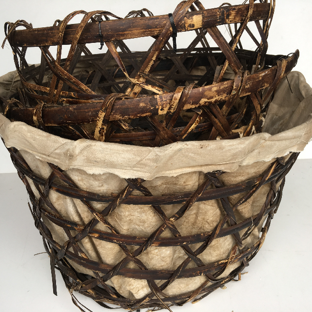 Stack of Large Open Weave Baskets