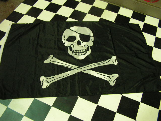 FLA0001 FLAG, Pirate - 90cm x 1.5m $12.50