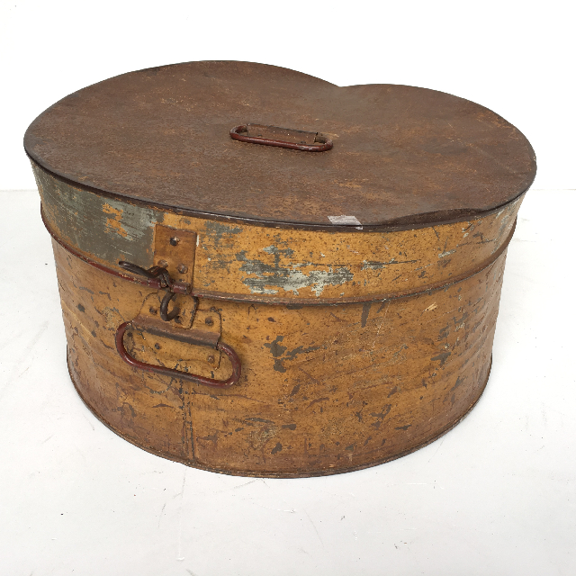HAT0102 HAT BOX, Ochre Metal $18.75