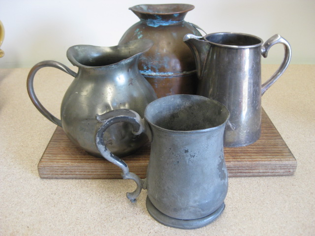 JUG0001 JUG, Silver / Copper / Pewter Assorted $7.50