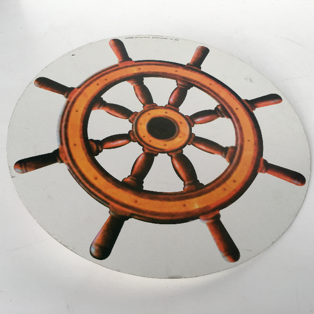 SHI0052 SHIP'S WHEEL, Cardboard Cut Out 45cm Dia $3.75