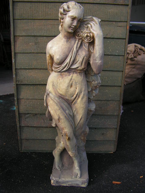Statue - Lady with Roses