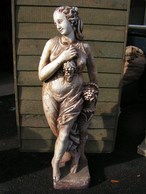 Statue - Lady with Grapes