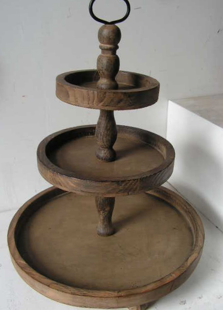 Wooden Tiered Stand ~ Roman