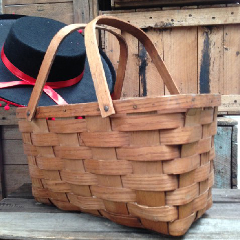 Basket - woven ply basket with handles