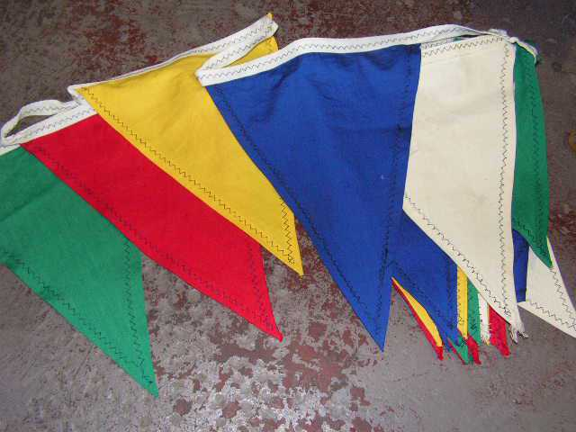 Bunting - cotton primary colours, 8m length