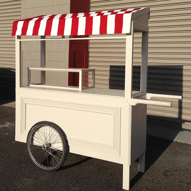 Cart - large cream cart with optional canopy(2m long x 1.8m high x 65cm deep)