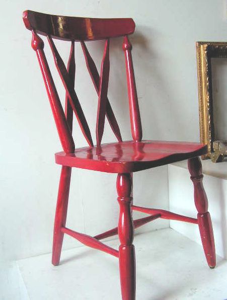 Chair, painted red