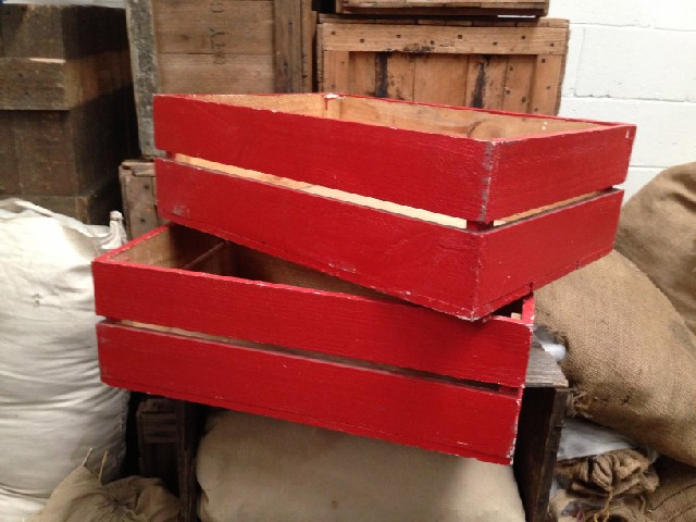 Crates - painted red