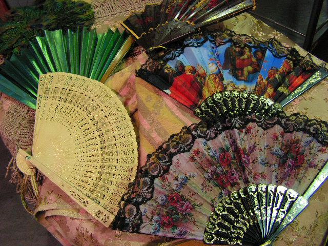 Fans - selection of lady's hand fans