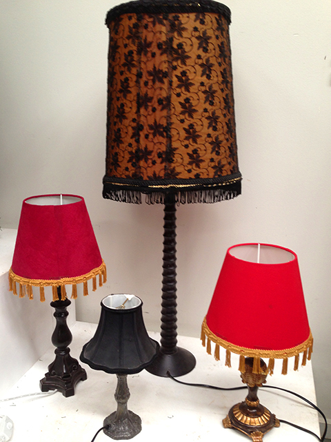 Lights - Spanish style table lamps