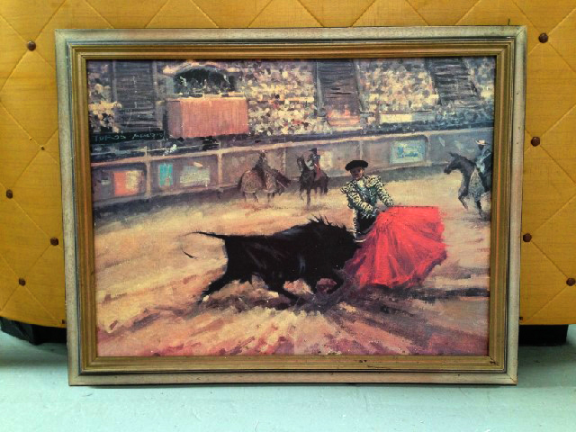 Print - Matador with bull in ring