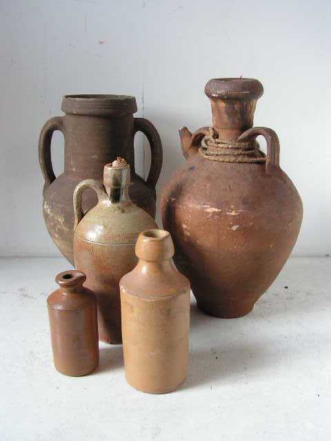 Rustic vessels, assorted