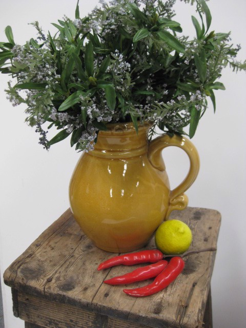 Rusticware - features the rustic yellow glazed jug