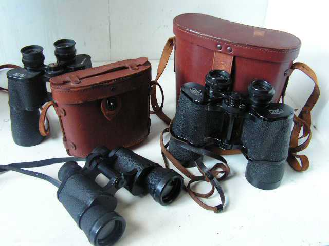 Binoculars and Leather cases - Assorted Pricing from $7.50