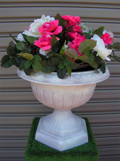 URN0052 URN CENTREPIECE, Pink Floral Arrangement (for Medium Urn URN0003) $20