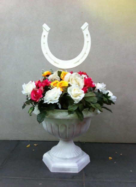 Event Styling - Floral Urn with Horseshoe