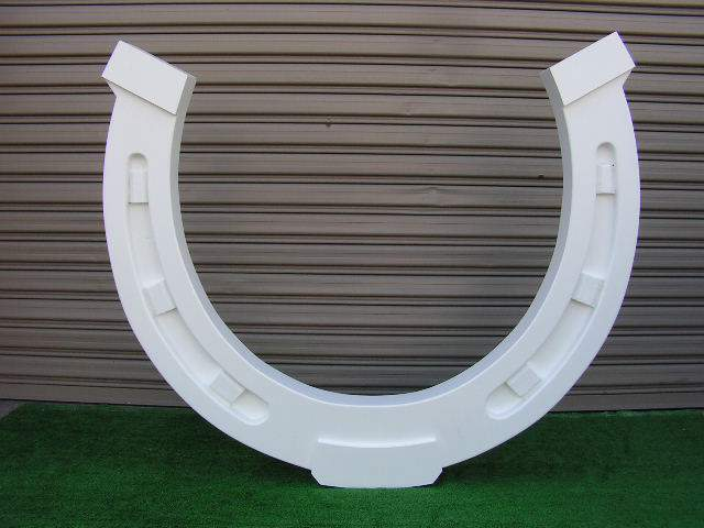 HOR0002 HORSESHOE, Large White 1.4m W x 1.2m H $187.50