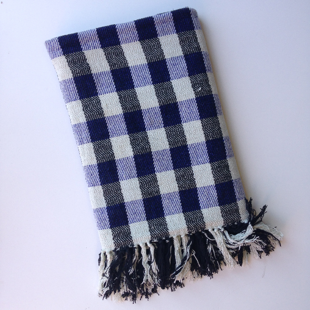 BLA0125 BLANKET, Picnic Blanket - Blue Cotton $10