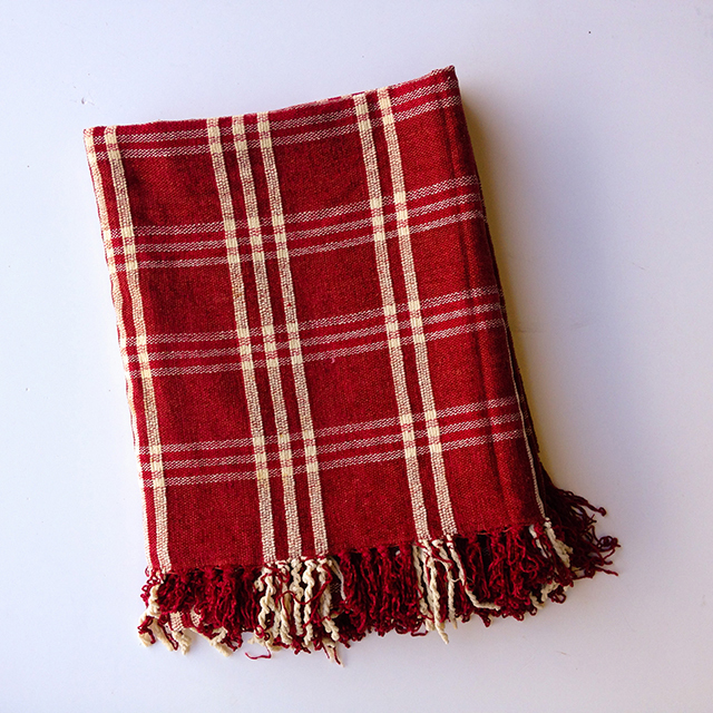 BLA0128 BLANKET, Picnic Blanket - Red Tartan Cotton $10