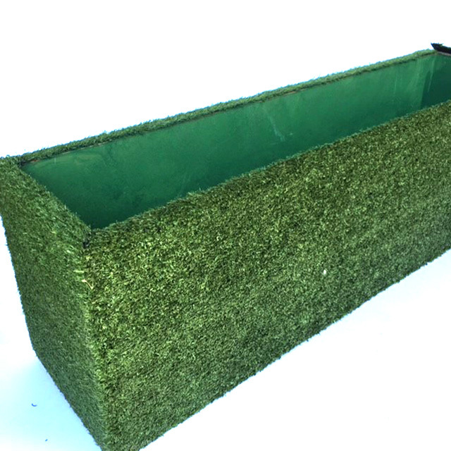 PLA0015 PLANTER, Flower Box - Faux Grass 1m L x 20cm D x 30cm H $50