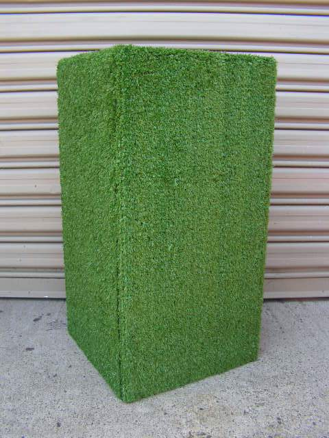 PLI0005 PLINTH, Green Grass Look 60cm High $50