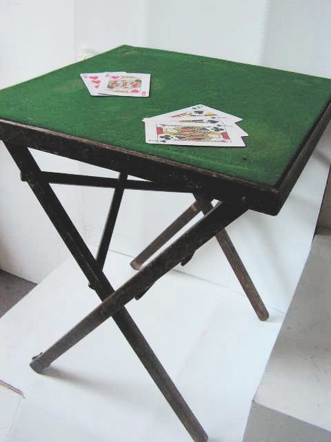 TAB0030 TABLE, Card Table - Green Felt 50cm x 50cm $15