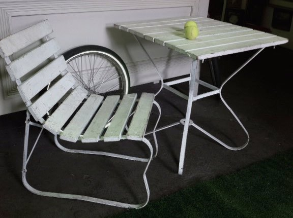 SET0100 SET, Table & Chairs - White Timber Outdoor Setting $50