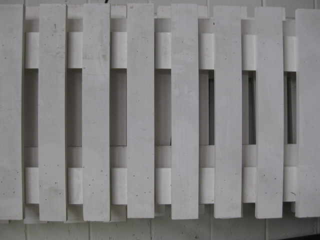 FEN0002 FENCE (PICKET), White Slat Timber 2.1m L x 55cm H $22.50