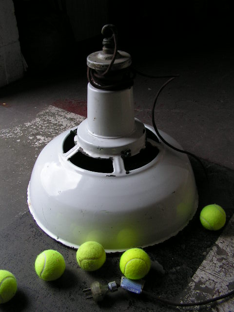 TEN0011 TENNIS COURT LIGHT, White Industrial 50cm Dia $37.50