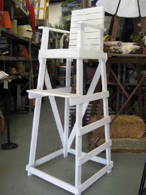 CHA0900 CHAIR, Lifeguard / Umpire Chair 2m High (77cm Square at Base) $100