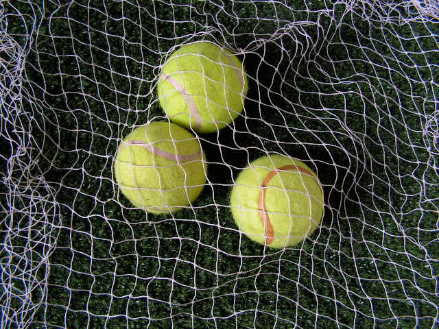 Tennis Theming - Net w Tennis Balls