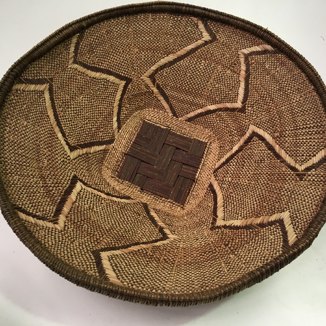 BAS0126 BASKET, Shallow African Style 1 $18.75