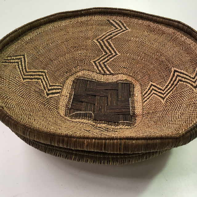 BAS0127 BASKET, Shallow African Style 2 $18.75