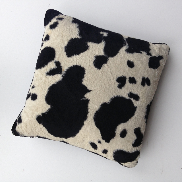 CUS0080 CUSHION, Animal Print - Black & White Cow Hide $10