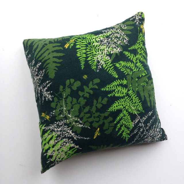 CUS0032 CUSHION, Dark Green w Green Foliage 45cm $10