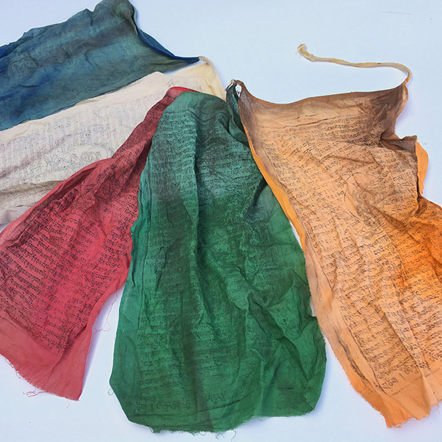 FLA0084 FLAG, Tibetan Prayer Flag Bunting (Large Aged) $8.75