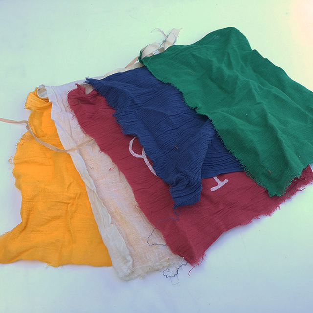 FLA0085 FLAG, Tibetan Prayer Flag Bunting (Small Plain) $6.25
