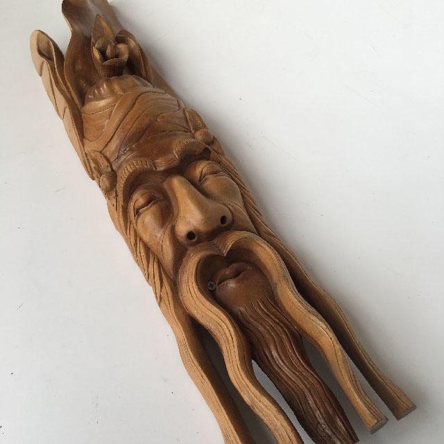 MAS0016 MASK, Wooden - Man w Long Moustache $15