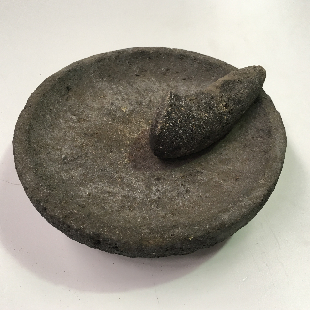 MOR0002 MORTAR & PESTLE, Granite Stone $15