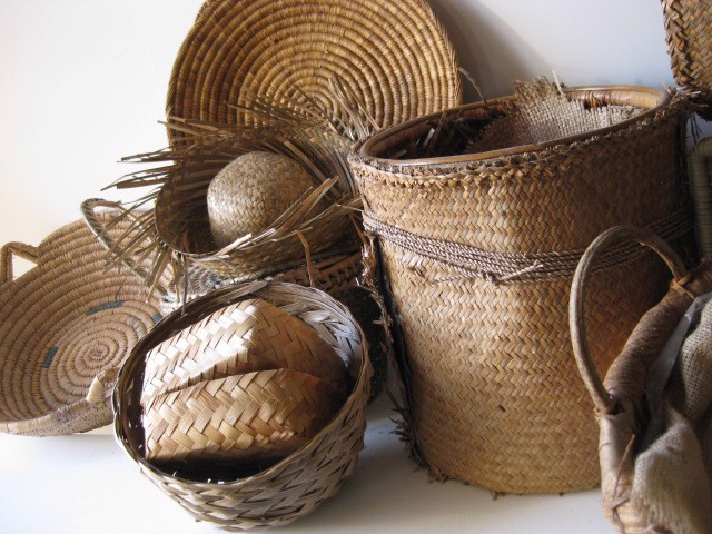 Collection of Cane Baskets